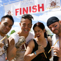 Team Building Hard as Nails Mud Obstacle Race